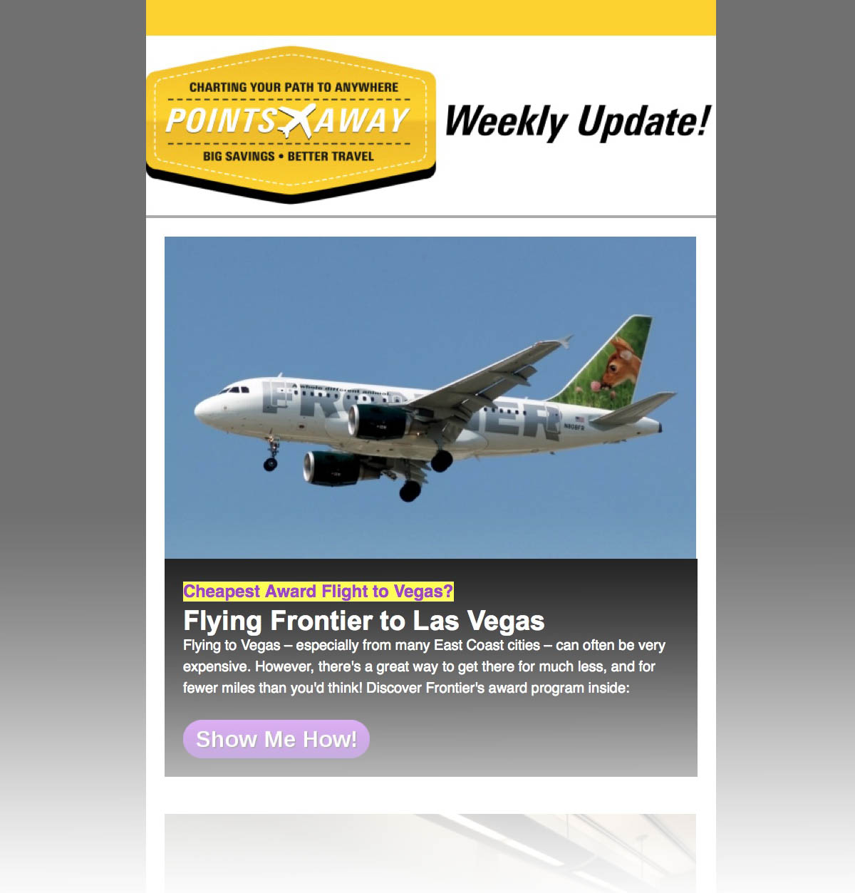 PointsAway Weekly Newsletter
